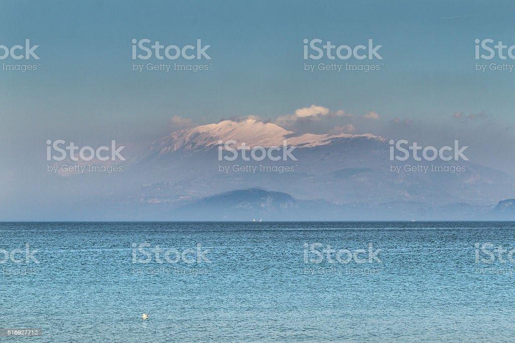 Panoramic view of Monte Baldo - Italy stock photo