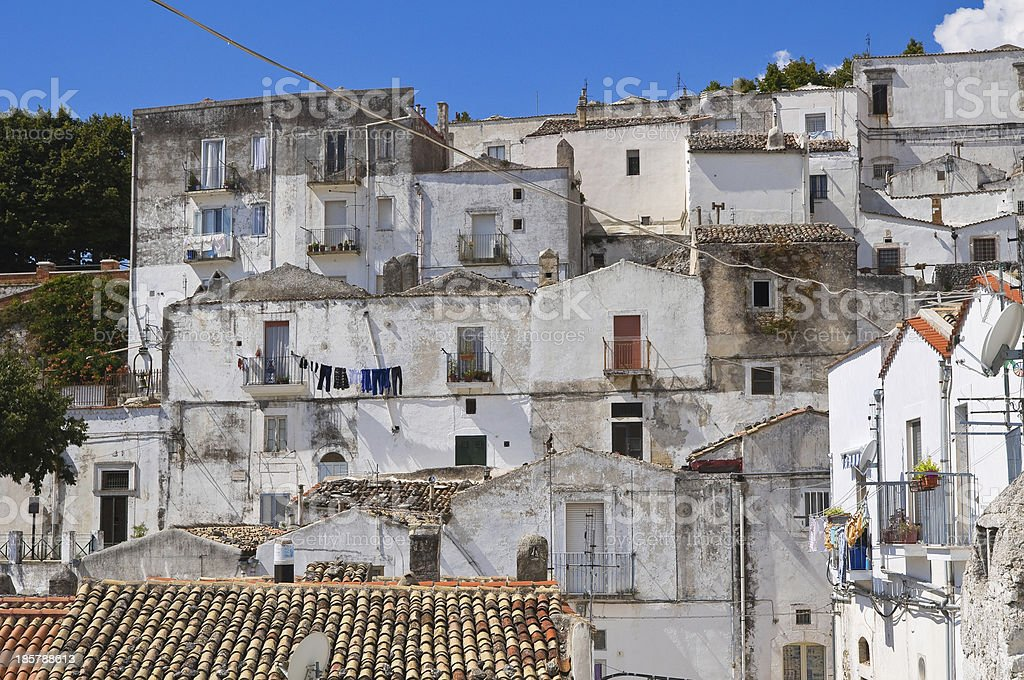 Panoramic view of Monte Sant'Angelo. Puglia. Italy. royalty-free stock photo