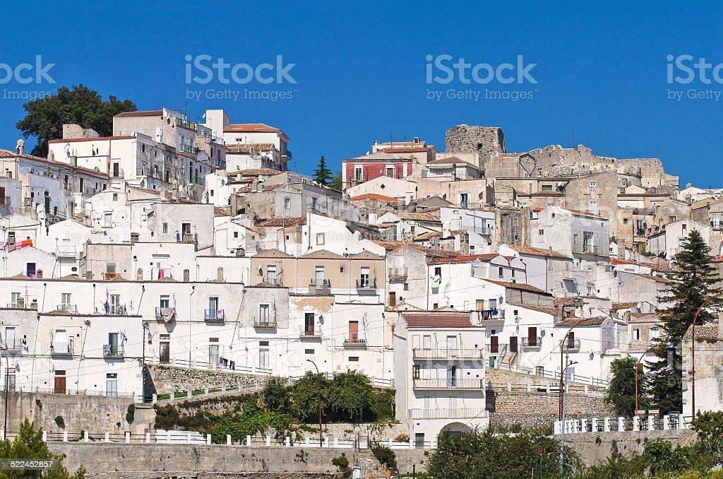 Panoramic view of Monte Sant'Angelo. Puglia. Italy. stock photo