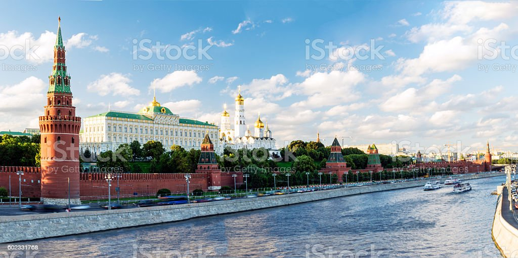 Panoramic View of Moscow Kremlin. Russia stock photo