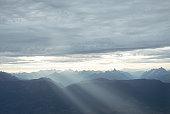 panoramic view of mountains range