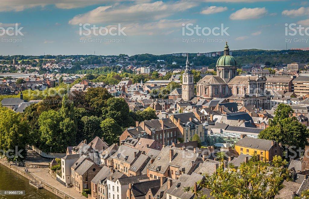 Panoramic view of Namur stock photo