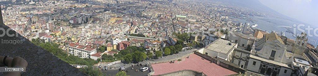 Panoramablick von Neapel, Italien Lizenzfreies stock-foto