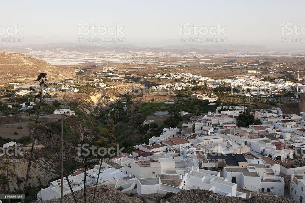 Panoramic view of Nijar village - Cabo de Gata, Spain royalty-free stock photo