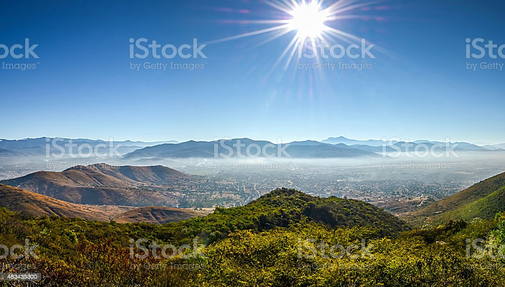 Panoramic view of Oaxaca city stock photo