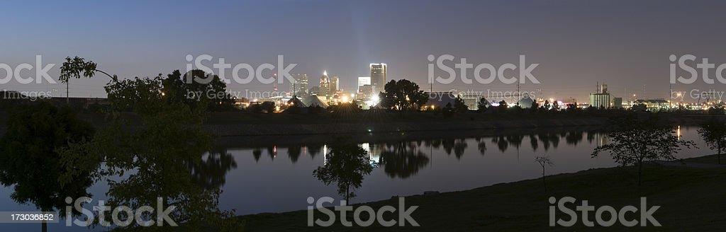 Panoramic View of Oklahoma City at Dusk (XXL) royalty-free stock photo