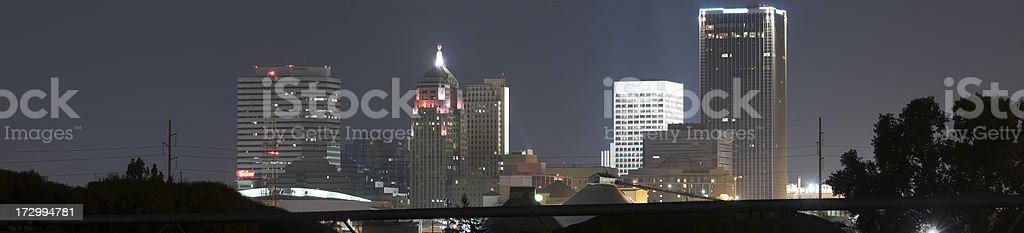 Panoramic view of Oklahoma City Skyline (XXL) royalty-free stock photo