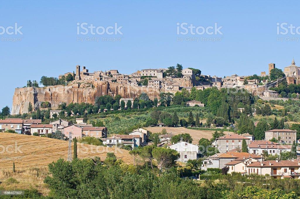 Panoramic view of Orvieto. Umbria. Italy. stock photo