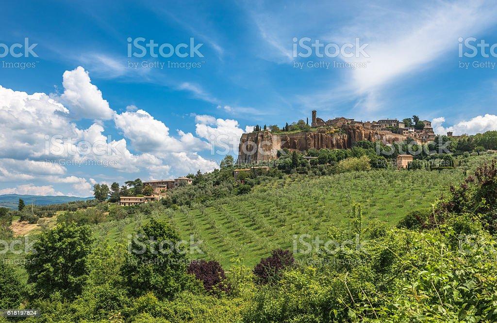Panoramic view of Orvieto, Umbria, Italy stock photo