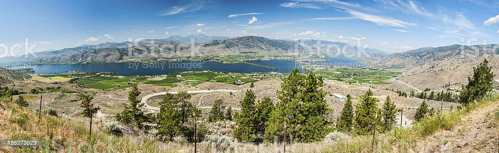 Panoramic View of Osoyoos stock photo
