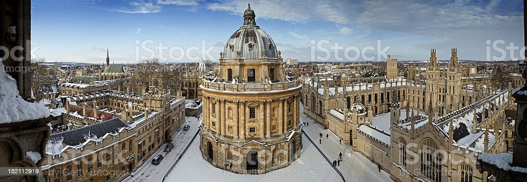 Panoramic view of Oxford stock photo