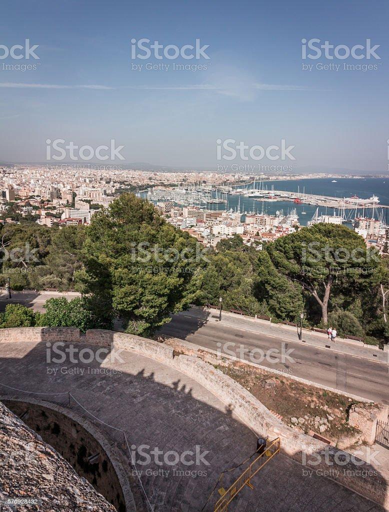 Panoramic View of Palma de Majorca stock photo