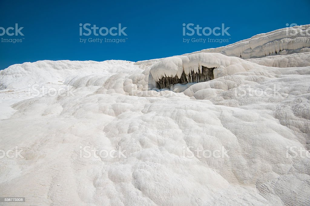 Panoramic view of Pammukale stock photo