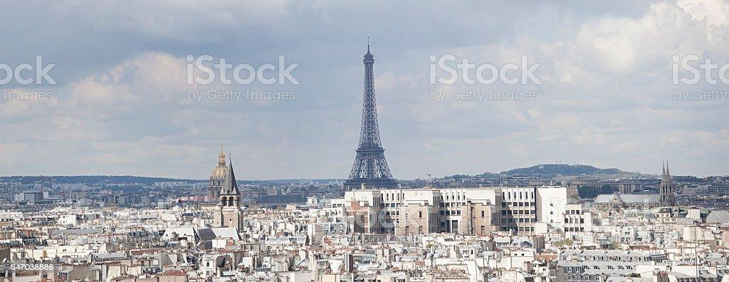 Panoramic view of Paris, Fance stock photo