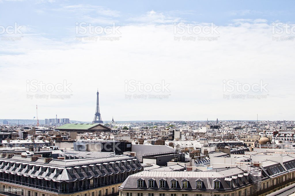 Panoramic view of Paris. France. stock photo