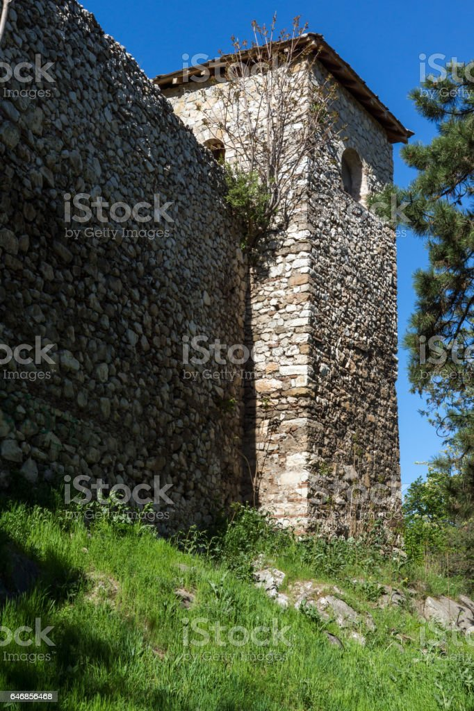 Panoramic view of Pirot Fortress, Serbia stock photo
