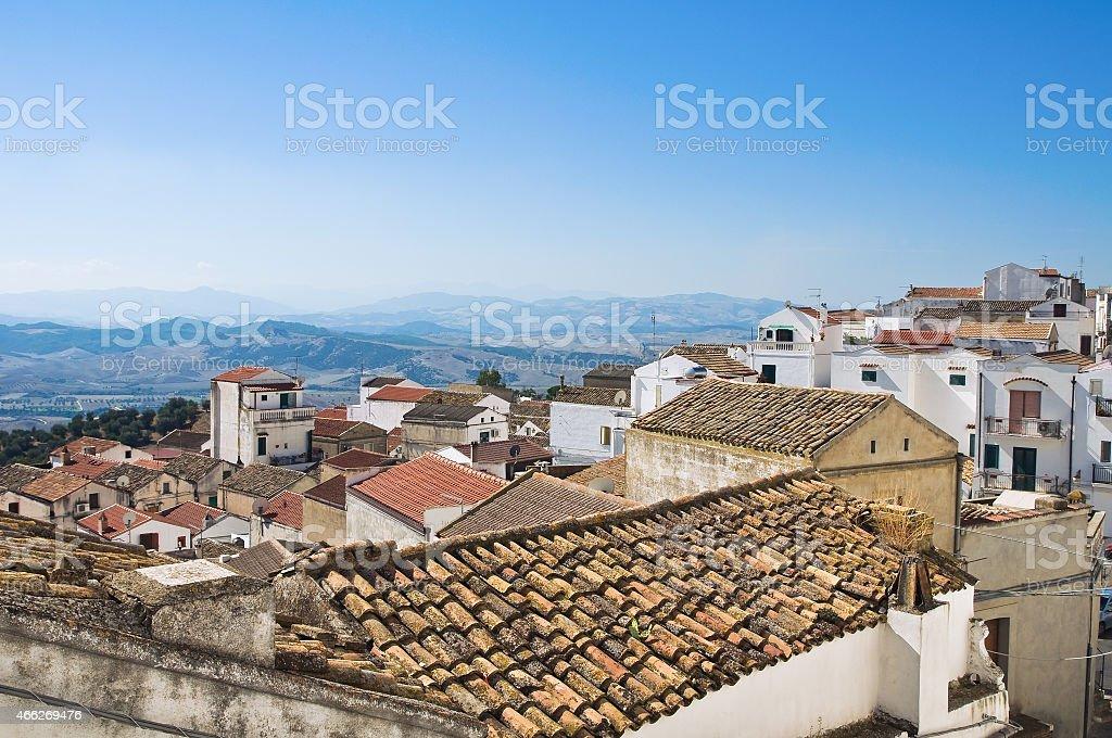 Panoramic view of Pisticci. Basilicata. Italy. royalty-free stock photo