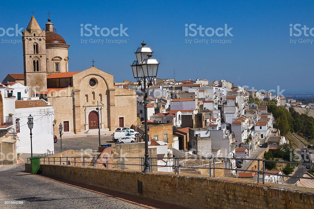 Panoramic view of Pisticci. Basilicata. Italy. royalty-free stock photo