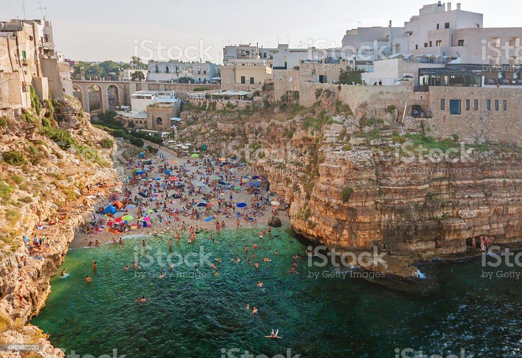 panoramic view of Polignano - Puglia stock photo