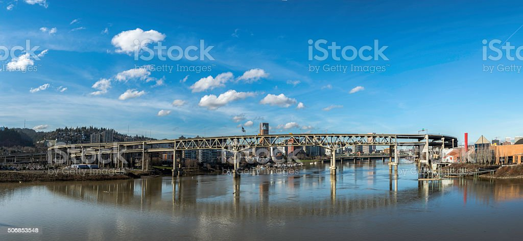 Panoramic View of Portland OR stock photo