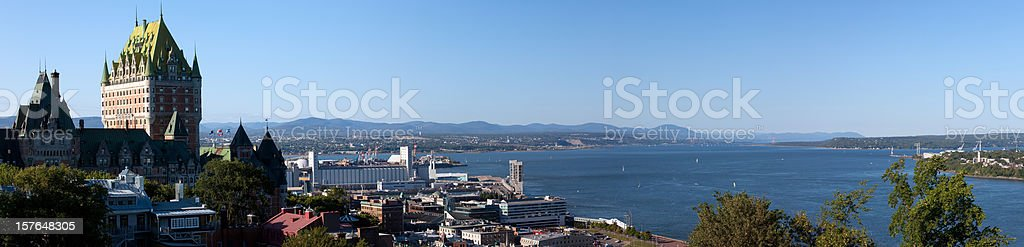 Panoramic View of Quebec City During Summer royalty-free stock photo