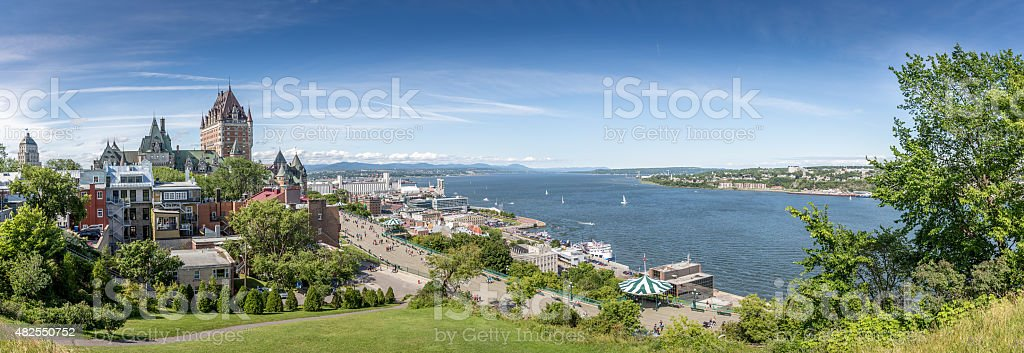Panoramic View of Quebec City During Summer stock photo