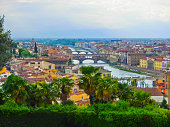 Panoramic view of river Arno. Florence. Tuscany