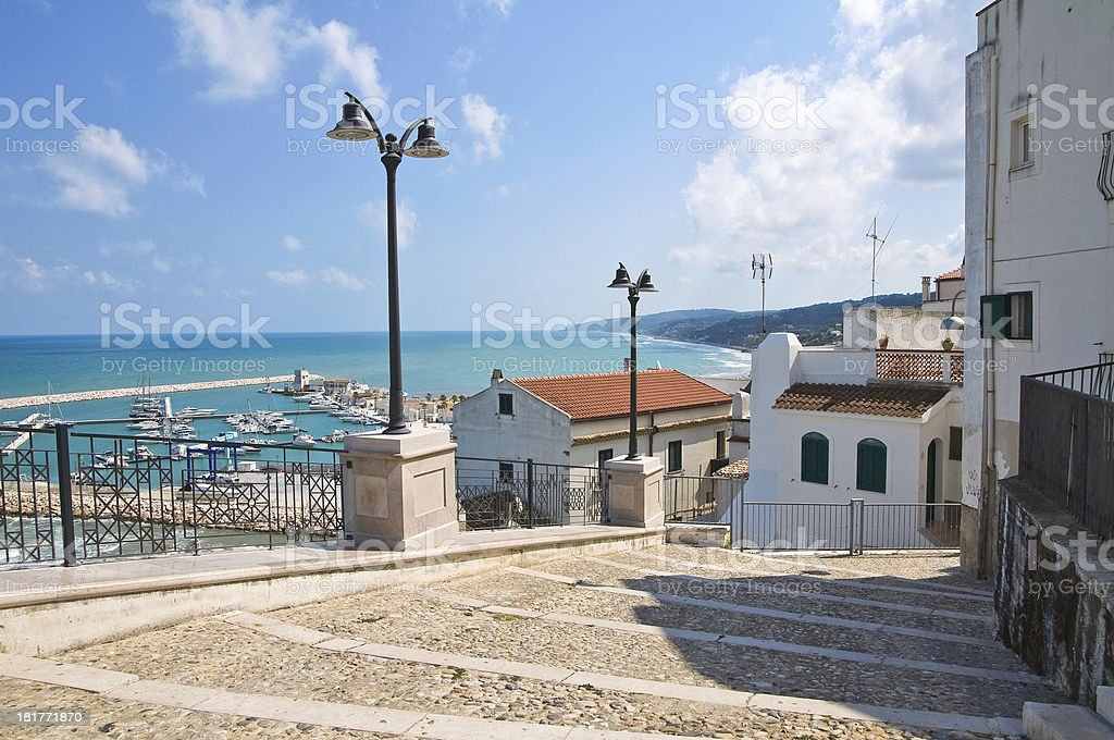 Panoramic view of Rodi Garganico. Puglia. Italy. stock photo