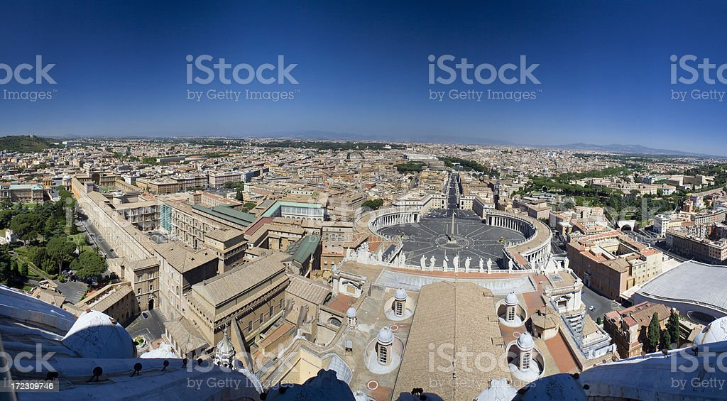 Panoramic view of Rome, Italy royalty-free stock photo