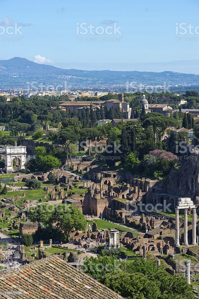 Panoramic view of Rome royalty-free stock photo