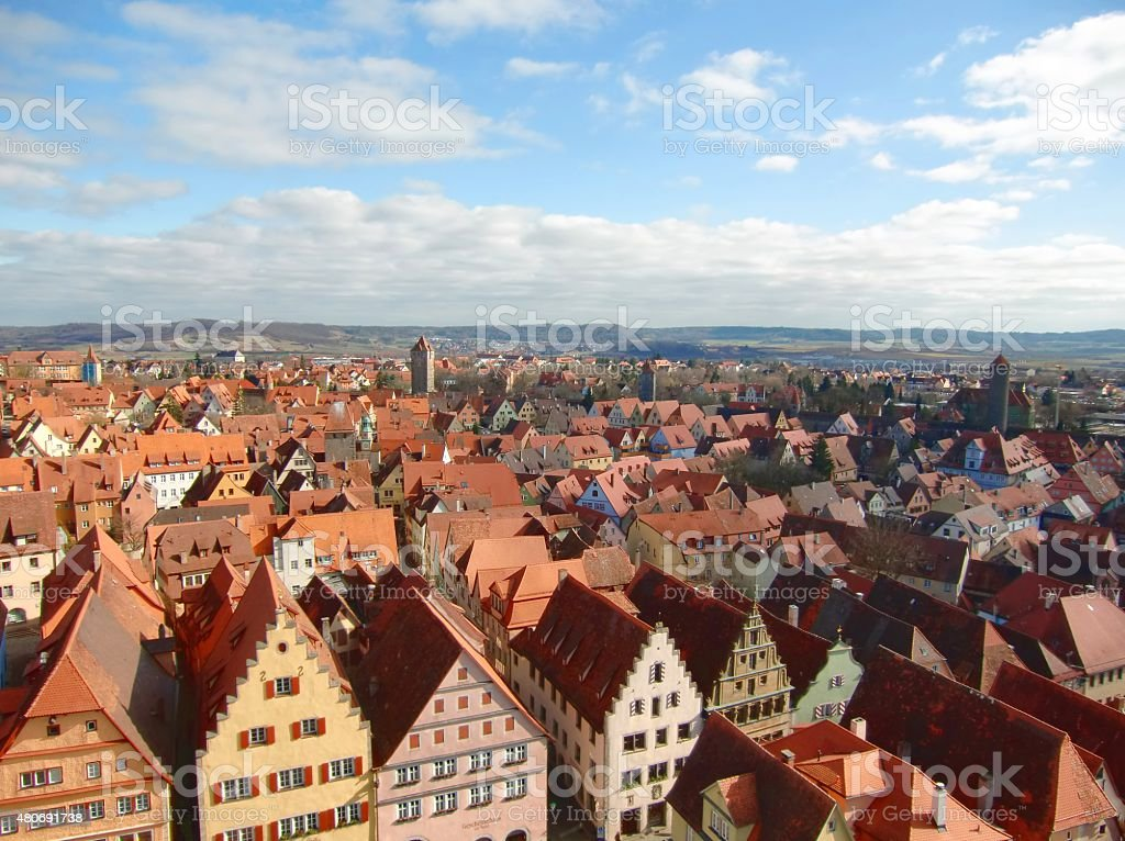 Vue panoramique de Rothenbourg photo libre de droits
