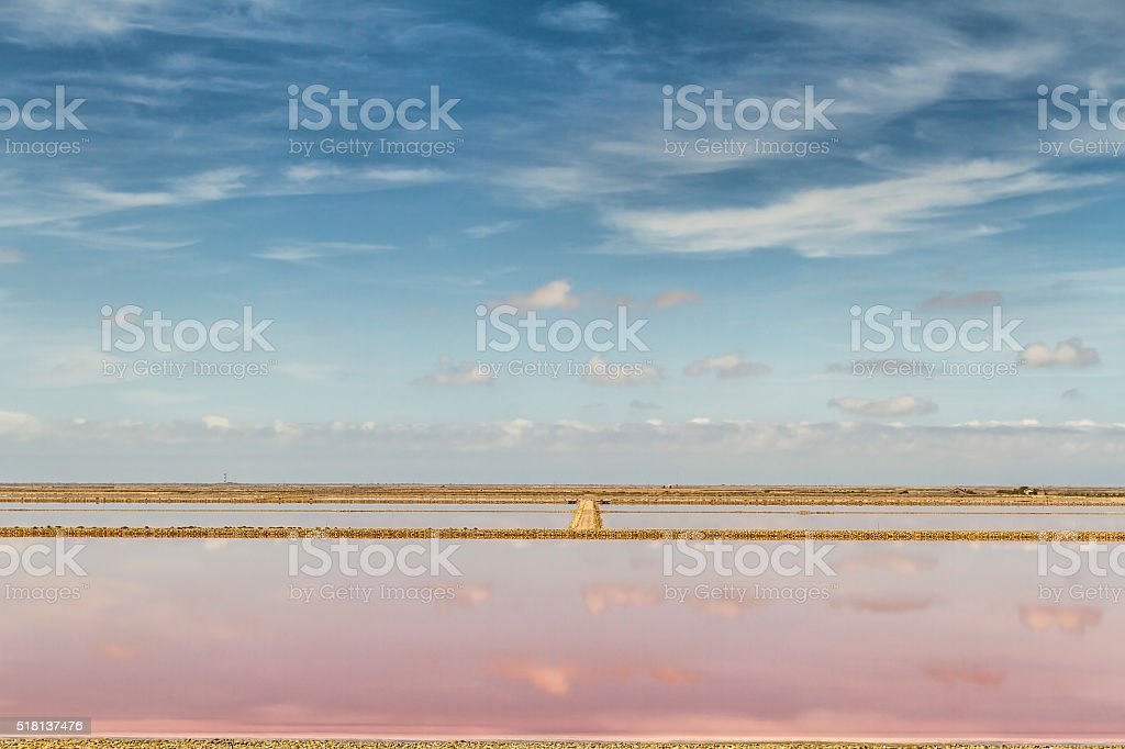 Panoramic view of Saline Drip - Salin de Giraud stock photo