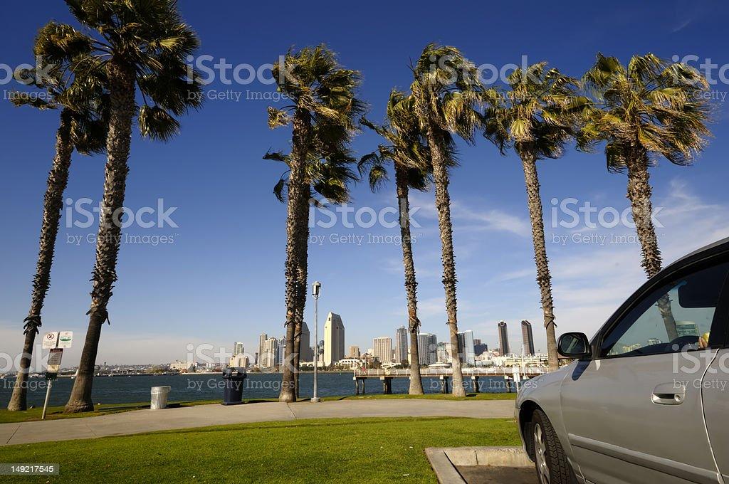 Panoramic view of San Diego skyline royalty-free stock photo