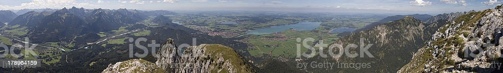 Panoramic view of SAuling Mountain (southern Germany) stock photo
