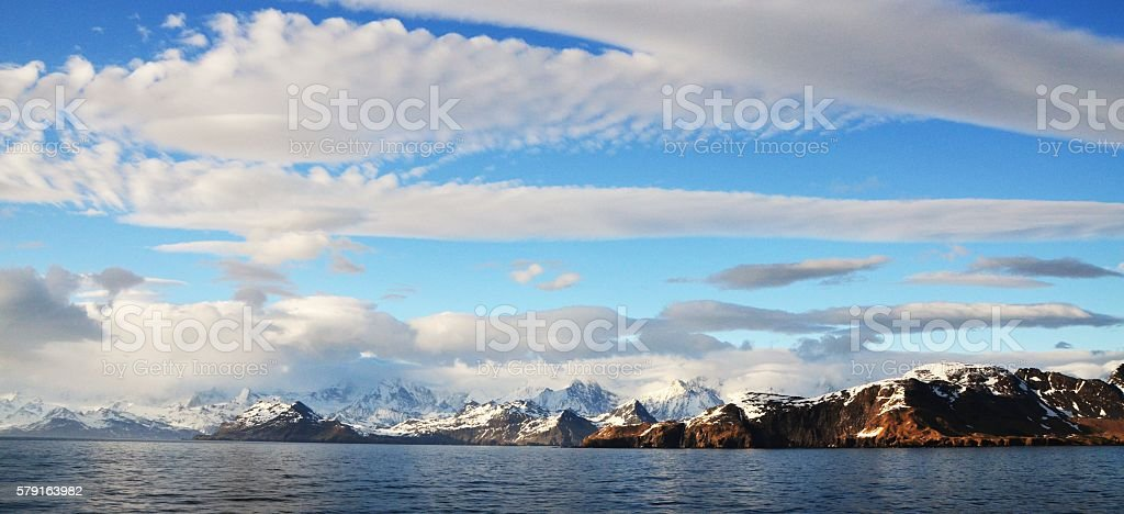 Panoramic View of South Georgia stock photo