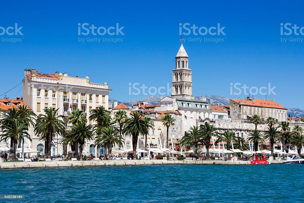 Panoramic view of Split Croatia stock photo