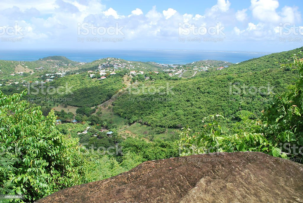 Panoramic View of St. Martin Island stock photo