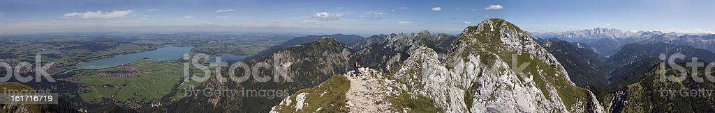 Panoramic view of S?uling Mountain (southern Germany) stock photo