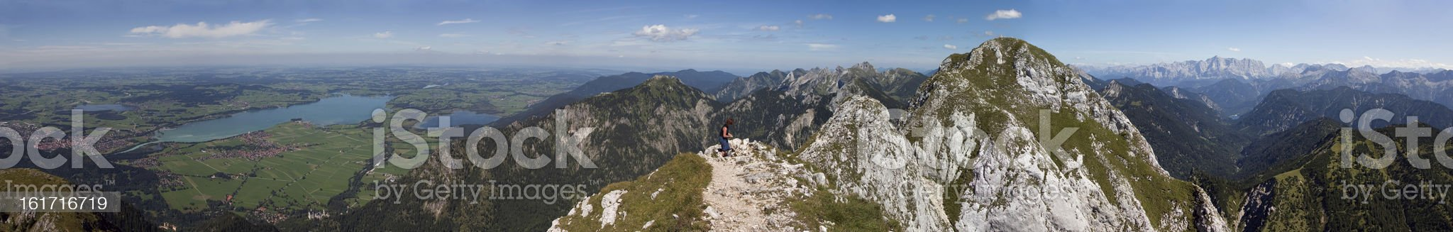 Panoramic view of S?uling Mountain (southern Germany) royalty-free stock photo