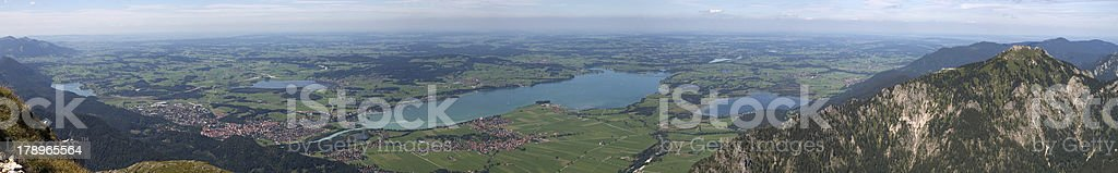 Panoramic view of Säuling Mountain (southern Germany) stock photo