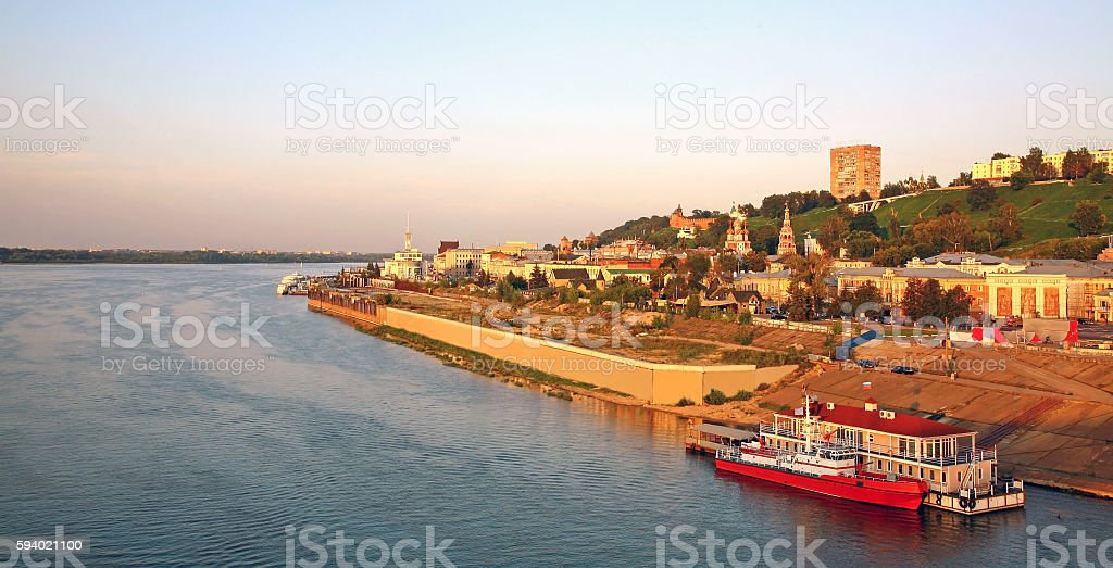Panoramic view of summer Nizhny Novgorod Russia stock photo
