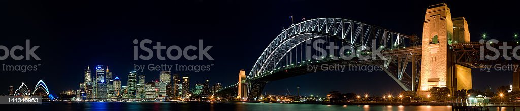 Panoramic view of Sydney Harbour royalty-free stock photo