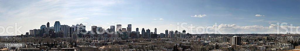 Panoramic view of the Calgary city skyline stock photo