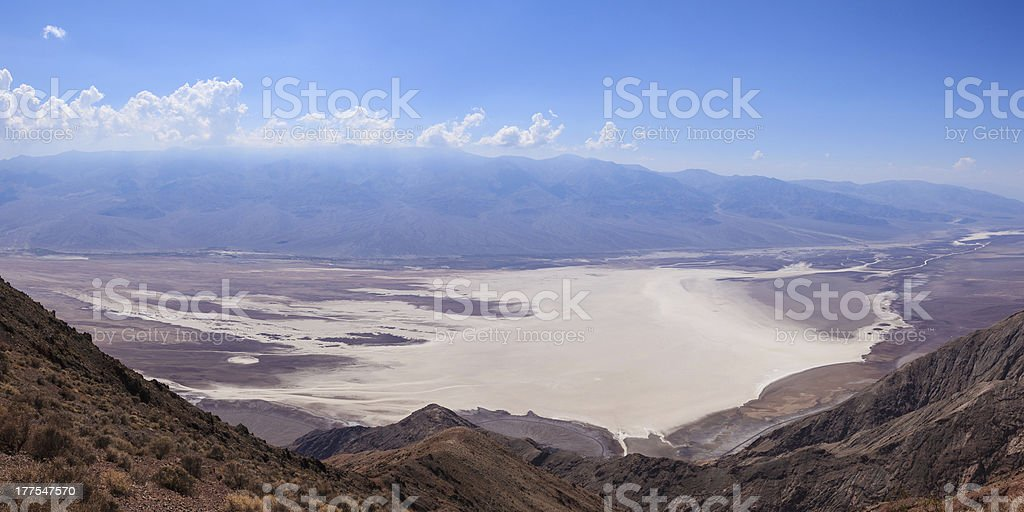 Panoramic view of the Death Valley in California - USA royalty-free stock photo