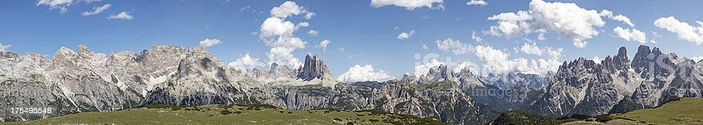 Panoramic view of the Dolomites stock photo