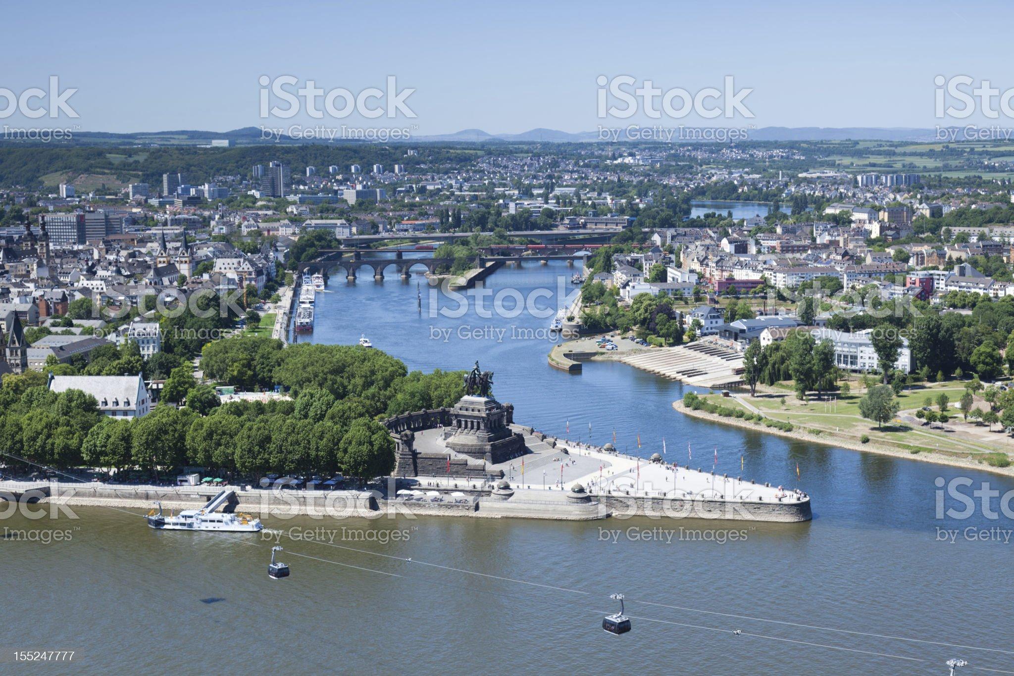 Panoramic view of the German Corner royalty-free stock photo