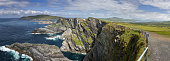 Panoramic view of the Kerry Cliffs, Ireland