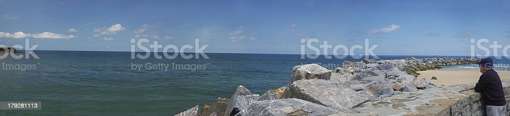 Panoramic view of the ocean royalty-free stock photo