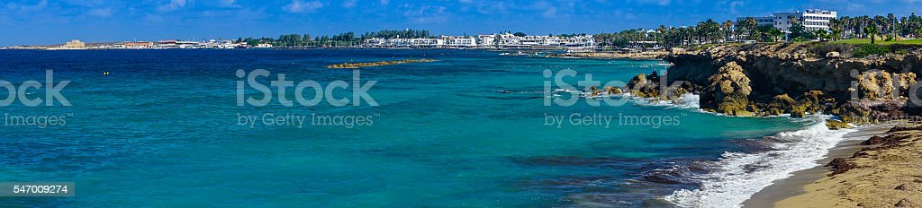 Panoramic view of the Paphos, Cyprus stock photo