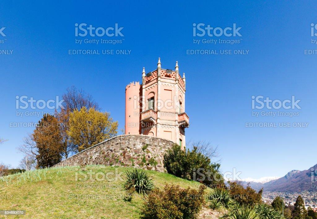 Panoramic view of the park Tassino stock photo